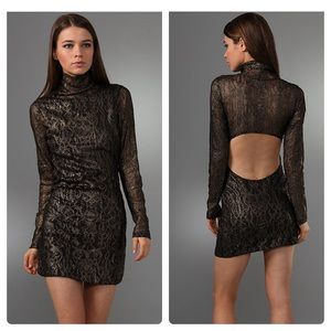 Nightcap Metallic Long Sleeve Victorian Lace Dress